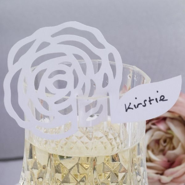 White Place Cards For Glasses (10)